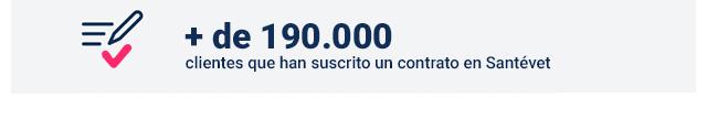 + de 190.000 clientes que han suscrito un contrato en Santévet